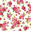 薔薇の花をシームレスに