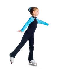 Little girl with skates