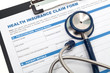 Leinwanddruck Bild - Health insurance business