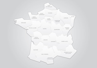 FRANCE CARTE REGIONS