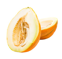Ripe melon isolated