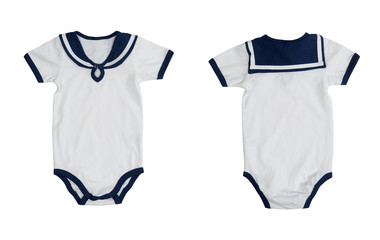 Collage of baby clothes