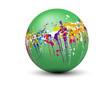 sphère taches couleurs