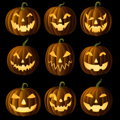 Set of Jack O Lanterns