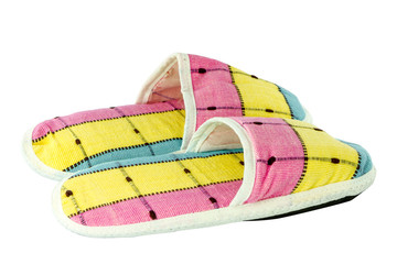 Colorful slippers isolate