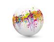 sphère taches de couleur
