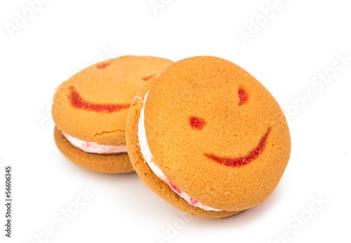 smiley cookies isolated