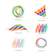 Abstract graphic designs - set with different shapes and colors