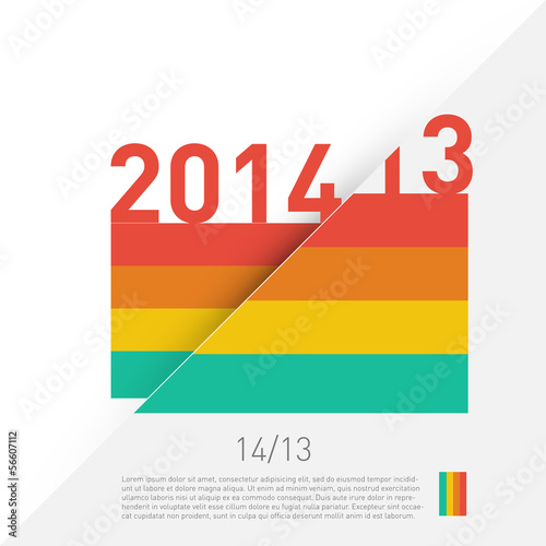 2014 colorful graphic design - diagonal background