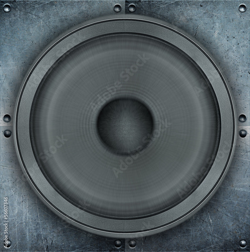 Grunge music background, loudspeaker