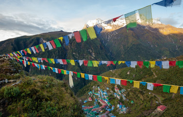 Namche Bazar - biggest village in Khumbu valley, Nepal