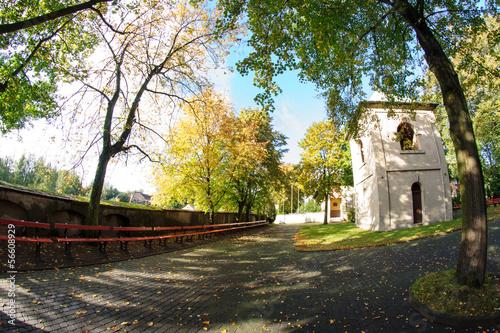 Zdjęcia na płótnie, fototapety, obrazy : Klasztor ooFranciszkanów, łagiewniki, Łódź, jesień