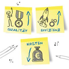 Qualität Effizienz Kosten, Strategie