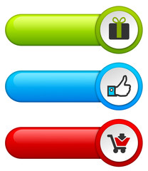 Button Set Werbung