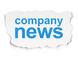 News concept: Company News on Paper background