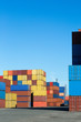 canvas print picture - Container terminal