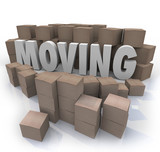 Moving Word Cardboard Boxes Relocation Packed to Go poster