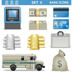 Vector Bank Icons Set 4