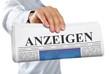 Zeitung mit Anzeigen