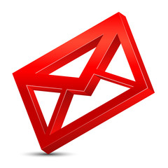 red envelope icon 3d