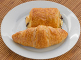 Croissant and a Pain au Chocolat