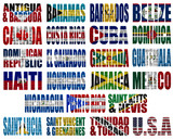 North America countries(without Panama) flag words