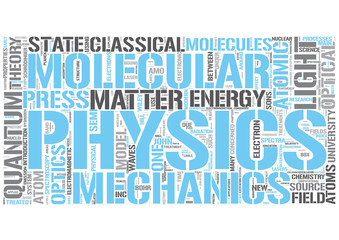 Atomic, molecular, and optical physics Word Cloud Concept