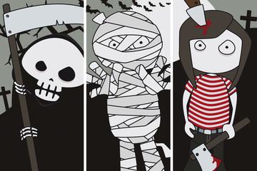 Halloween cards.