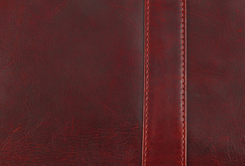 worn leather texture with seam