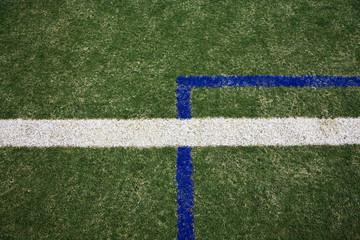 Linien auf dem Fußballplatz