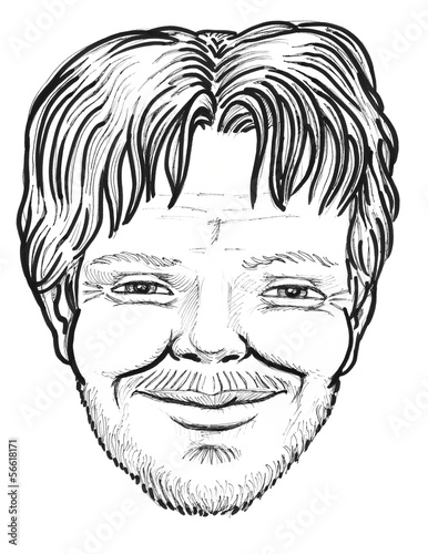 man  face caricature