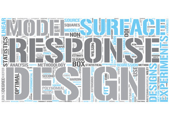 Response surface methodology Word Cloud Concept