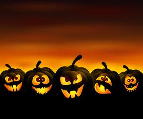Funny pumpkins