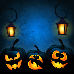Background to the Halloween with pumpkins