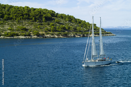 Sailing in Adriatic sea