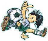 Fototapety Asian Break Dancing Soccer Girl Vector Clip Art