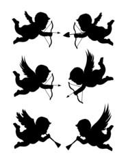 cupids in different styles
