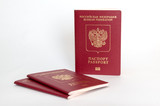 Three russian passports