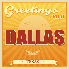 Vintage Dallas, Texas poster