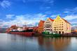 Granary Island at the Motlawa river in Gdansk, Poland.