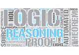 Automated reasoning Word Cloud Concept poster