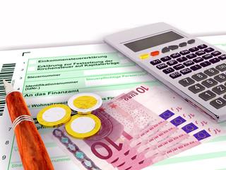 Steuerformular zehn Euro