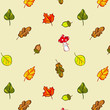 Autumn leaves - vector seamless pattern
