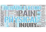Rehabilitation medicine Word Cloud Concept poster