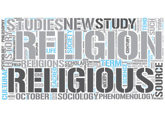 Religious studies Word Cloud Concept