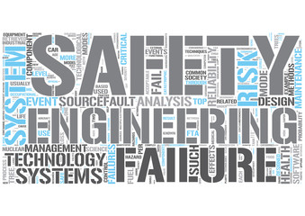 Safety engineering Word Cloud Concept