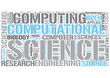 Scientific computing Word Cloud Concept