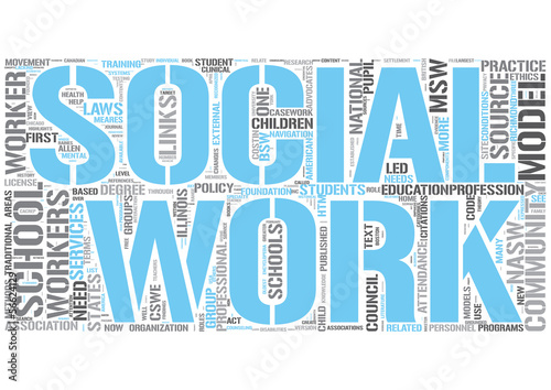 School social worker Word Cloud Concept