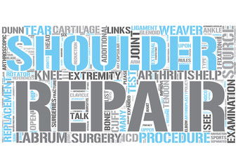 Shoulder surgery Word Cloud Concept