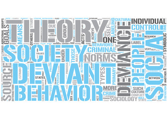 Sociology of deviance Word Cloud Concept